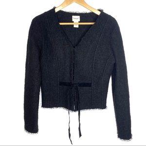 {Anthropologie} Kenji Wool Jacket Black Size Med